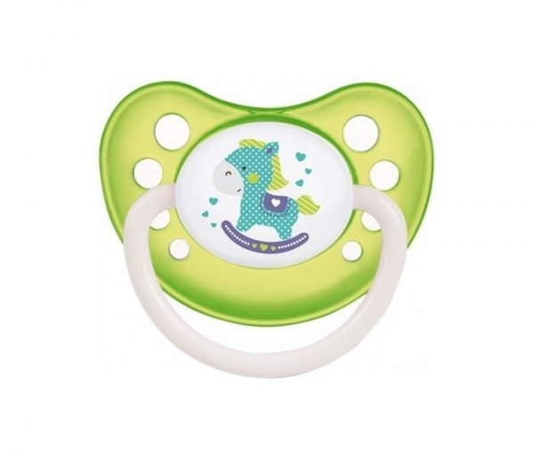 CANPOL VARALICA ORTHODONTIC SILICONE 0-6 M TOYS green 23/256